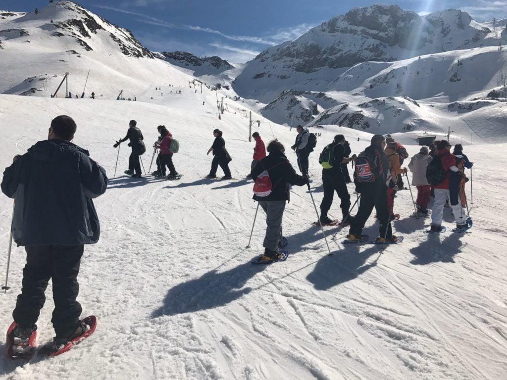 Usuarios de centros en la nieve